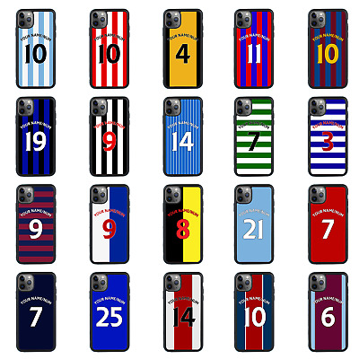 FOOTBALL STRIPS Personalised Glass Case For IPhone 6s 7 8 PLUS XS 11 PRO MAX XR • 7.99£