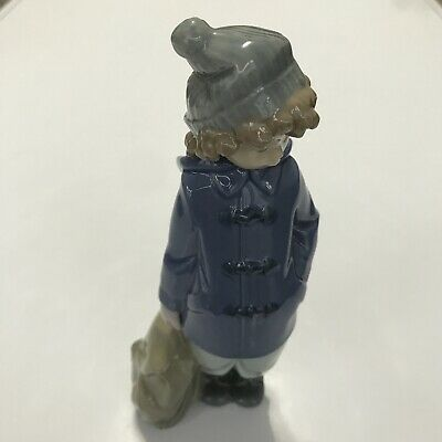 Nao Lladro Figurine - Young Boy With Sachel • 5£