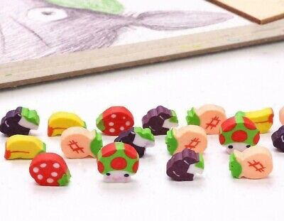 £2.49 • Buy Mini Fruit Rubber Pencil Eraser Cute Novelty Stationery Children Party Bag Gift