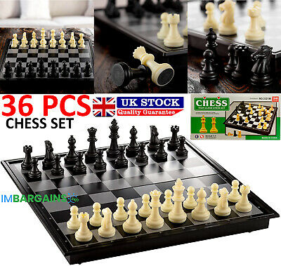 £5.99 • Buy New Magnetic Folding Chess Board Portable Set High Quality Games Camping Travel