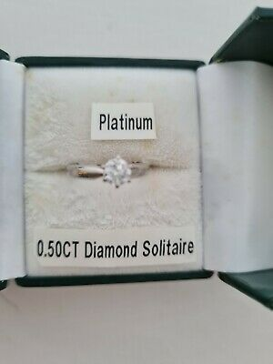 Platinum 0.50CT Diamond Solitaire • 700£