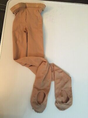 Girls Tan Convertible Capezio Dance Tights Size 8-12 Years • 0.99£
