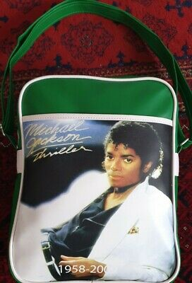Michael Jackson,Green Shoulder And Cross Body Bag.A4 Books And Notebooks Fits. • 14.50£