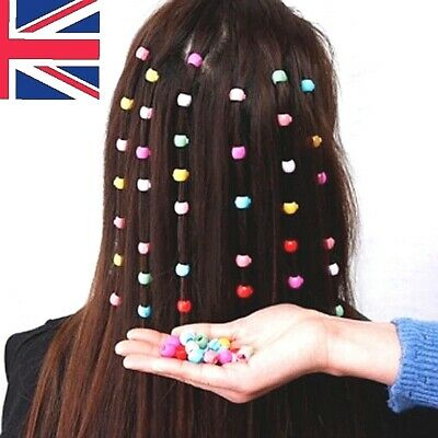 Mini Plastic Hair Claw Clips Grips For Womens Girls Candy Colour Beads Headwear  • 3.49£