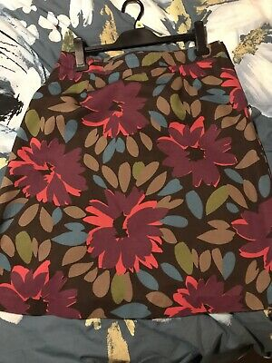 Boden Floral Skirt Size 14 With Flowers Vgc • 12£