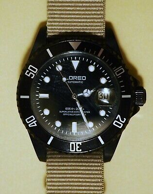 $ CDN26.05 • Buy Loreo Submariner Homage All Black With NATO Strap Automatic Dive Watch