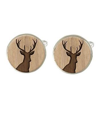 Stag Mens Cufflinks Ideal Wedding Fathers Day Or Birthday Gift C721 • 7.99£