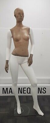 Female Mannequin STYLE POSE 2 / ABSTRACT White/Beige Full Body Display Fashion • 20£