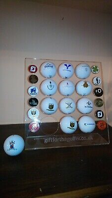 Golf Ball And Marker Acrylic Display Holder With Free Personalised Message  • 11£