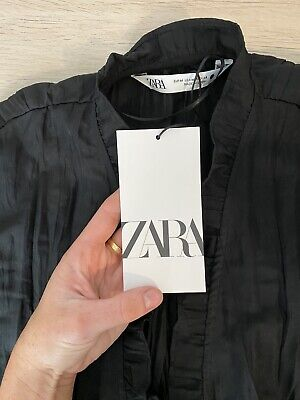 AU15.50 • Buy Zara Top M - Ruffle Design Button Down - New With Tags