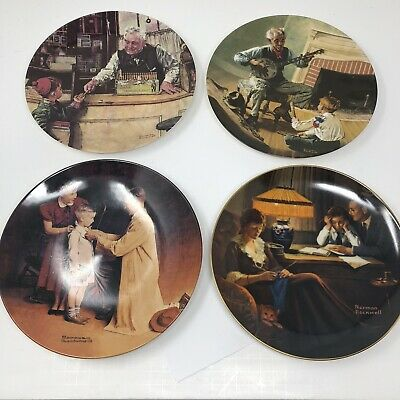 $ CDN32.70 • Buy NORMAN ROCKWELL Lot 4 Knowles Plates Heritage Collection 1989 2001 2007
