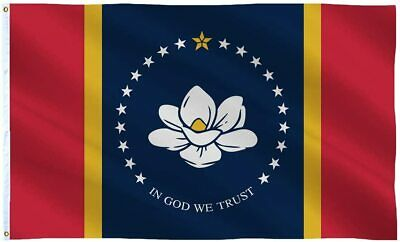 $6.89 • Buy 3x5FT The New Magnolia Mississippi Flag In God We Trust MS