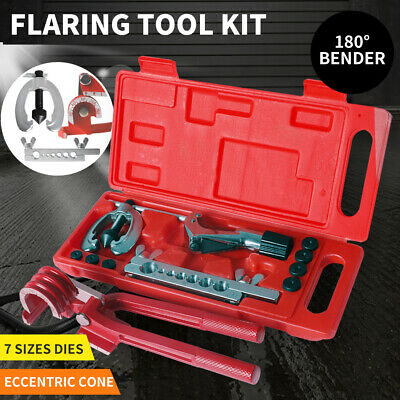 AU36.99 • Buy 10pcs Flare Tool Kit Brake Air Line Double Flaring Set 3 In 1 Tube Pipe Bender