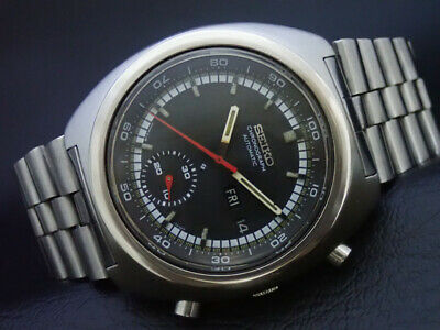 $ CDN1.30 • Buy Vintage Seiko 6139-7002 Automatic Chronograph Watch Black