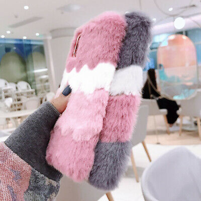 £5.99 • Buy Warm Furry Faux Fur Cover Plush Shockproof Case For IPhone 12 11 Pro Max X 8 7
