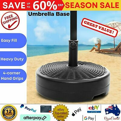 AU41.75 • Buy Weight Base For Pole Umbrella Outdoor Patio Cantilever Stand Holder Round Black