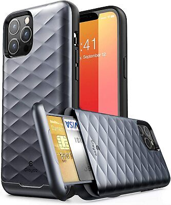 AU20.58 • Buy Clayco Argos Wallet Case Hidden Card Slot Back Cover For IPhone 12 Pro Max 6.7