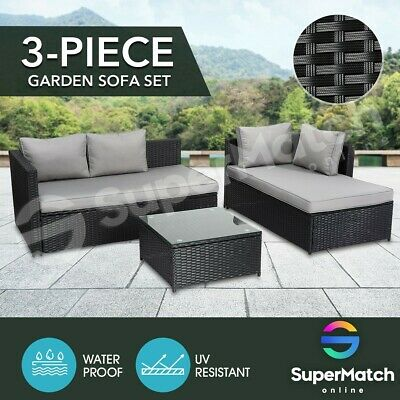 AU489.59 • Buy Outdoor Furniture Couch Lounge Sofa Table And Chairs Set Garden Patio Setting