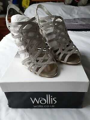 Wallis Suede Strappy Gladiator Shoes Size 3 • 3.99£
