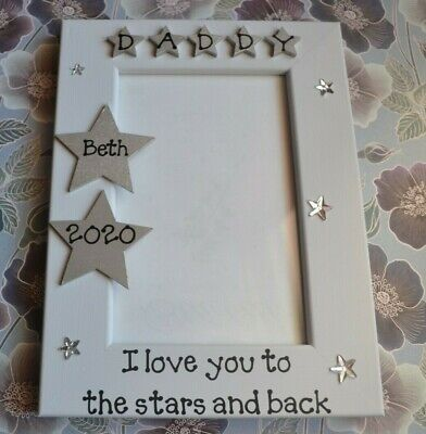 Personalised Handmade Photo Frame Daddy Mummy I Love You To The Stars And Back • 13.50£