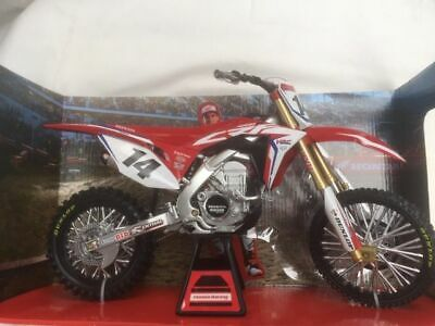 Honda Crf 450 Cole Seely 1:6 Scale Motorcyle Model. Dirt Bike. New Ray Toys.  • 43.99£