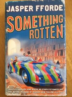 Something Rotten - Jasper Fforde HB SIGNED With POSTCARD • 15£