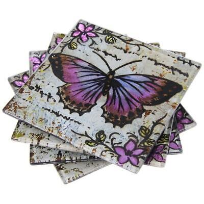 Lavender Butterfly Coasters • 9.95£