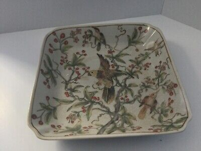 Chinese Crackle Glaze Small Square Plate • 6£