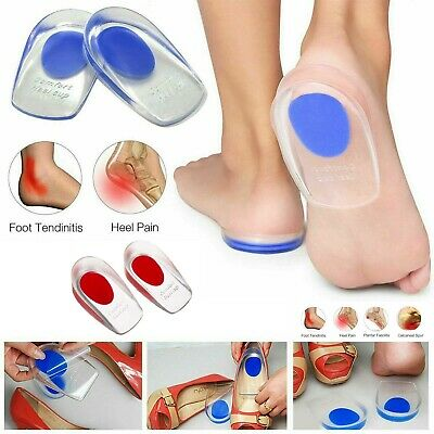 £3.20 • Buy Silicone Heel Support Shoe Pads Gel Orthotic Plantar Care Insert Insoles Cushion