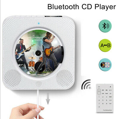 Wall Mounted CD Player FM Radio MP3 Music Player  Bluetooth With Remote Control • 38.99£
