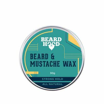 Beardhood All Natural Mustache And Beard Wax For Strong Hold, Natural Musky 30Gm • 14.69£