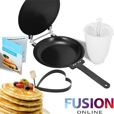 Crepes Pancake Maker Omelette Flip Pan Frying Free Batter Dispenser • 8.49£