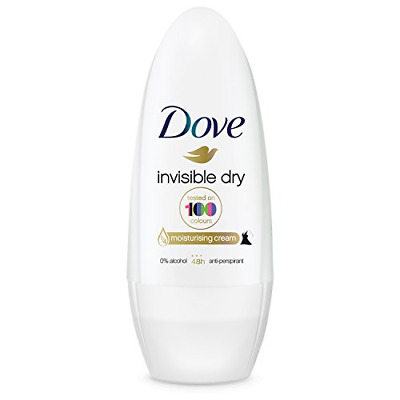 Dove Invisible Dry Anti-Perspirant Deodorant Roll-On, 50 Ml, Pack Of 6 • 8.43£