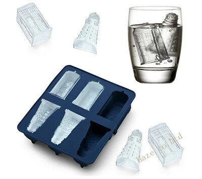 Doctor Who Tardis Dalek Ice Cube Tray Ice Cube Baking Chocolate Mold Tool • 0.01£
