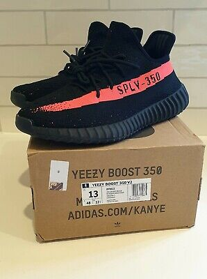 AU350 • Buy Adidas Yeezy Boost 350 V2  Core Black Red Size US13 - New In Box - Free Shipping