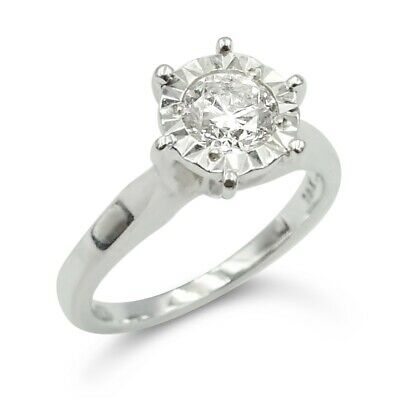 18ct Diamond Engagement Ring 0.50ct White Gold • 524.99£