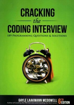 Cracking The Coding Interview:189 Programming..by Gayle Laakmann McDowell#52524U • 16.90£
