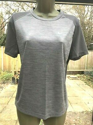 Nike Dri Fit Ladies Running Top In 2 Shades Of Grey - Good Condition - Large • 4.99£