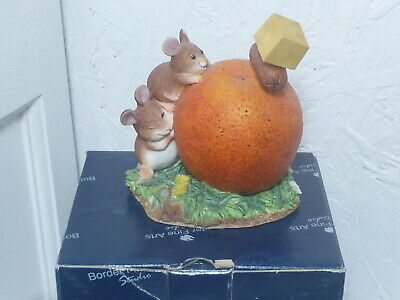 Border Fine Arts Merrie Mice Cocktail Party Fruit Fun Mouse A0603 Figurine Boxed • 28£