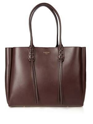 LANVIN Nela Leather Shopper Tote Bag • 225£