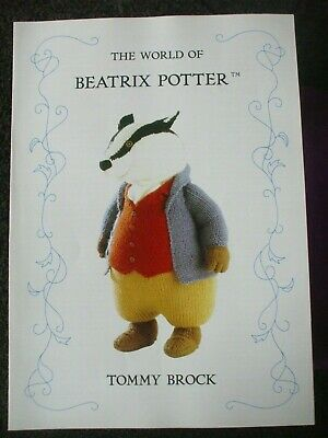 Beatrix Potter  Tommy Brock Toy  Doll Knitting Pattern • 14.99£