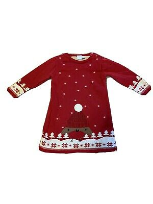 Baby Christmas Knitted Dress 18-24 Months Boots Mini Club • 0.99£