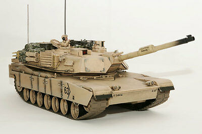 $124.46 • Buy Large Scale RC M1A2 Abrams Tank  Desert Camo, Lights, Sound, Shoots - Hobby Engi