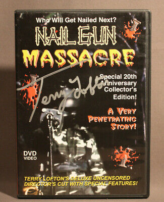 Nail Gun Massacre 20th Anniv 2004 DVD #409 Of 500 Auto By Terry Lofton Gore Film • 142.34£