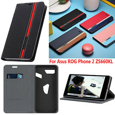 AU12.33 • Buy Leather Flip Case Phone Protective Cover Skin For ASUS ROG Phone 2 II ZS660KL