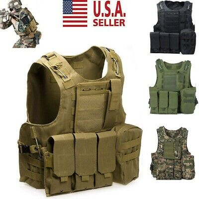 $34.99 • Buy Tactical Military SWAT Airsoft Molle Combat Assault Plate Carrier Vest Gear US