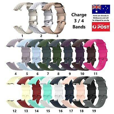 AU8.95 • Buy New Replacement Bands - Fitbit Charge 3 4 Silicone Watch Wrist Sports Strap