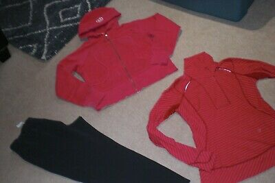 $ CDN95 • Buy  Lot Of Lululemon On The Fly Pants, Hoodie And Rare Half Zip Sweater Sz 10