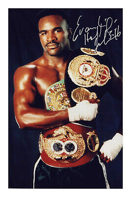 £5.99 • Buy Evander Holyfield Signed Photo Print Poster Autograph Boxing