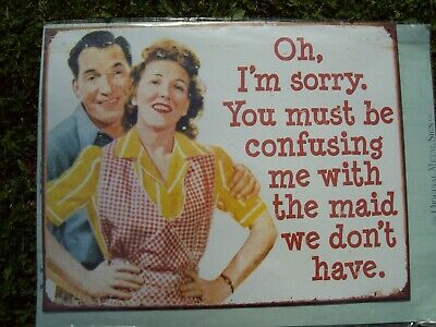 Metal Wall Sign. 50s Housewife Humour. New In Packaging. • 4£